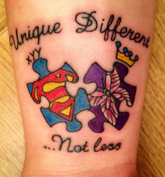 Autism tattoo inspiring ideas pinterest autism for Tattoos for minors