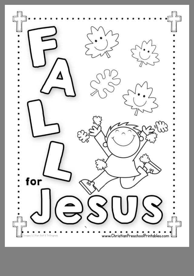 FALL COLORING PAGE FOR CHILDRENS CHURCH 2019- | Sunday ... | coloring pages for preschoolers
