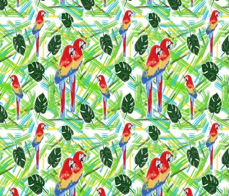 Parrot fashion fabric by rosy_lees on Spoonflower - custom fabric