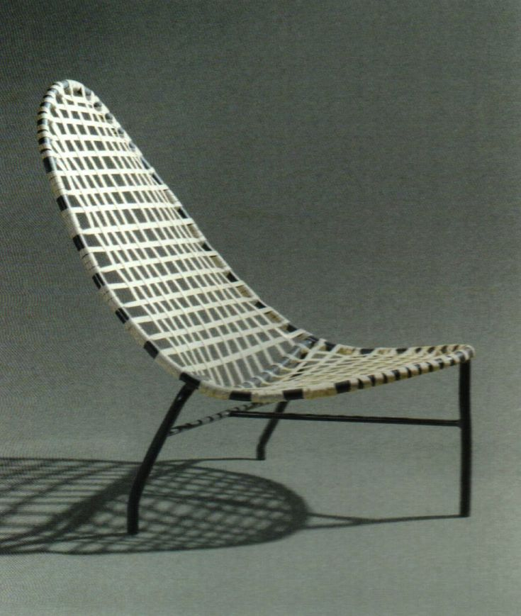 John Caldwell For Brown Jordan, Mai Tai Chair, Aluminum And Vinyl.