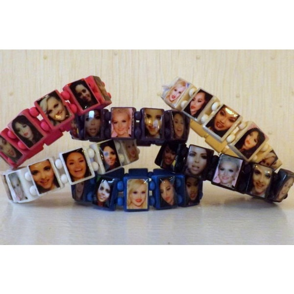 ONE x LITTLE MIX wooden stretch bracelet ❤ liked on Polyvore