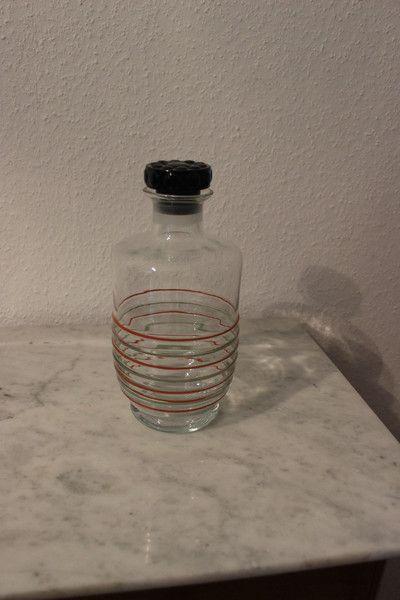 Vintage Flaschen - vintage Glaskaraffe retro - ein Designerstück von Pfaennle bei DaWanda