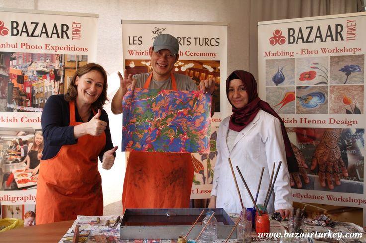 Ebru - Marbling Art Classes Autumn 2016 Season Started in our workshop located in Sultanahmet.- September 2016 http://bazaarturkey.com/shop/marbling-ebru-class-istanbul