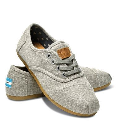 Look what I found on #zulily! Gray Hemp Canvas Classic Cordones Sneaker by TOMS #zulilyfinds