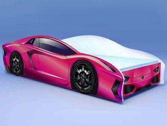 """Кровать машина """"Ламбо"""" розовая"""