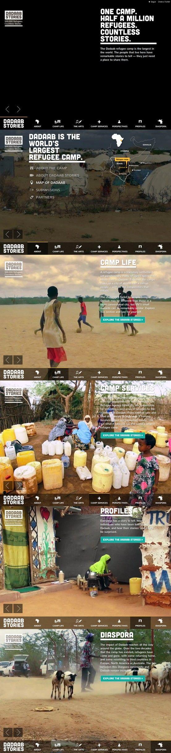 Dadaab Stories 25 April 2013 http://www.awwwards.com/web-design-awards/dadaab-stories #webdesign #inspiration #UI #Clean #BigBackgroundImages #Singlepage #ResponsiveDesign #Fullscreen #Colorful #Yellow #Green