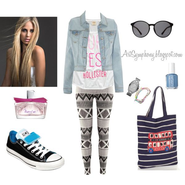 leggings by artsymphonyblogspot on Polyvore featuring Hollister Co., H&M, Converse, Accessorize, Michael Kors, The Row, Lanvin and Essie