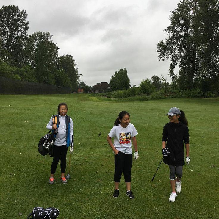 Had a blast on course with the three J's!  #joyce #jasmine #jessica #golf http://misstagram.com/ipost/1540180631351003005/?code=BVf0h-9nQd9