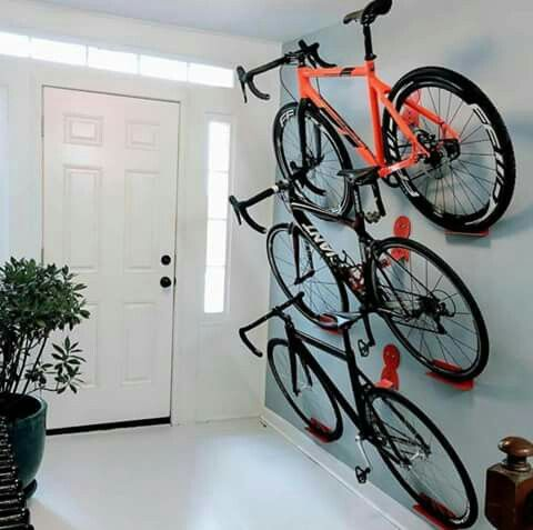 Modern indoor bicycle storage