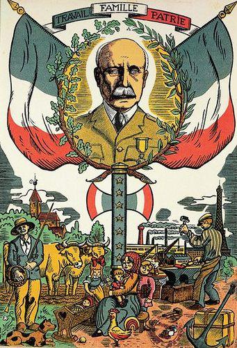 Vichy propaganda - work, family, country, pin by Paolo Marzioli
