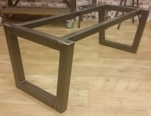Reference Number VIM08 - Contemporary Tapered Leg Steel base design suitable for coffee table height, dining table height and up to poseur table height. This design is suitable for granite, marble and glass tops as well as timber table tops