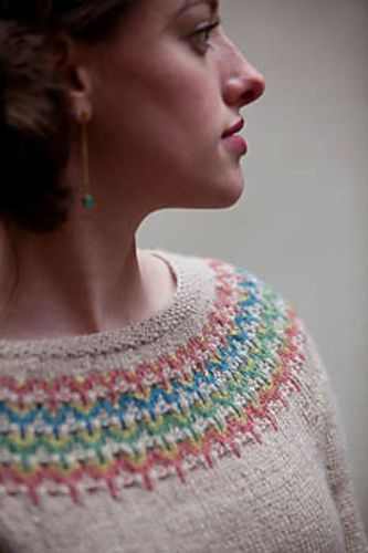 Freya sweater, free pattern from Interweave