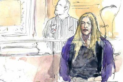croquis d'audience Benoit peyrucq _ procès moitoiret : Noella Hego