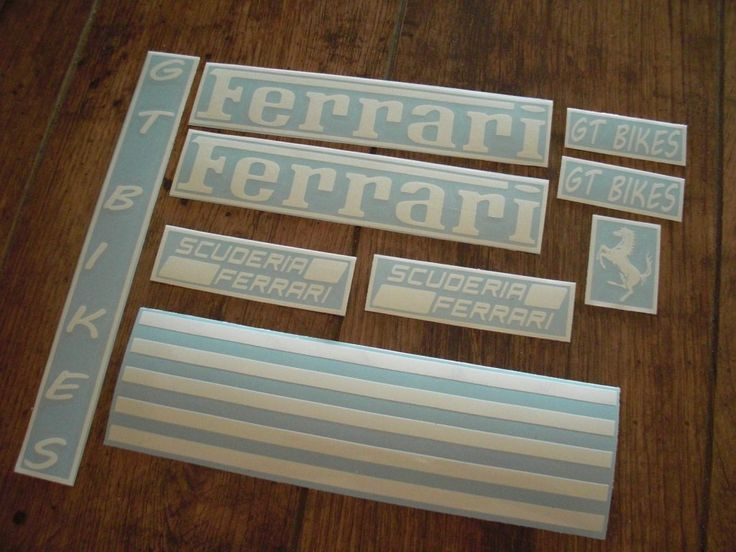 Pegatinas personalizadas para la bici.