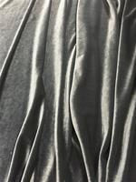 Stretch Velvet: 60-inches Wide Iron Gray