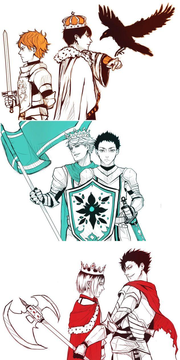 Haikyuu King and Lionheart by blauerozen.deviantart.com on @DeviantArt