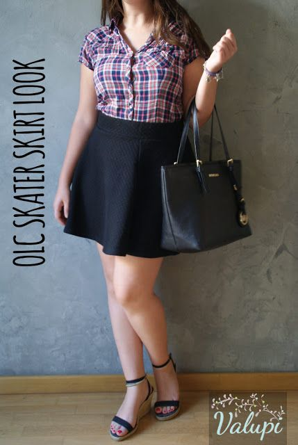Outfit low cost: Skater skirt look
