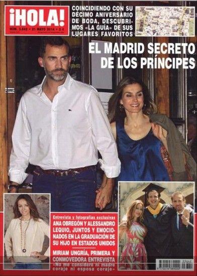 letizia revista hola   Letizia y el príncipe Felipe ilustran la portada de la revista ¡Hola ...