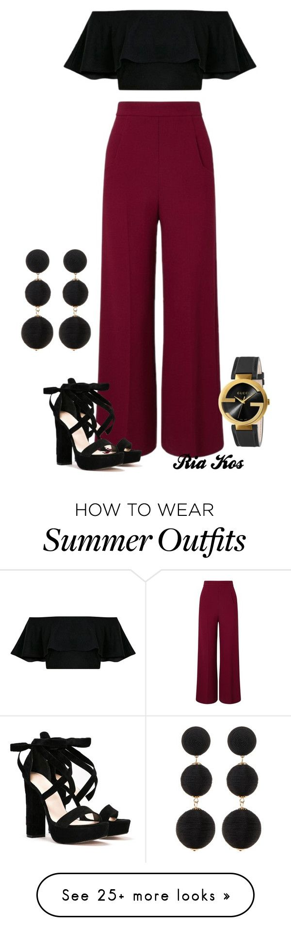 """summer outfit"" by ria-kos on Polyvore featuring Roland Mouret, Nasty Gal, Cara Accessories and Gucci"