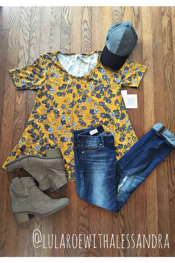 Pair the LuLaRoe perfect tee with your favorite boyfriend jeans and booties for a cool casual fall look!