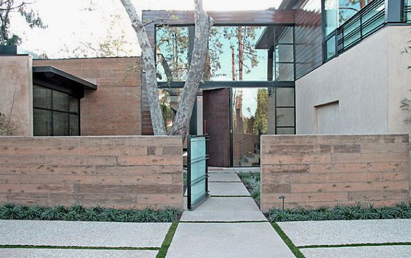 Ideas : Impressive Front Yard Landscaping Ideas - Charming Clean Lined Modern Landscaping Design Ideas With Fascinating Fence