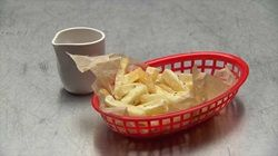 Twice Cooked Chips with Chicken and Rosemary Gravy