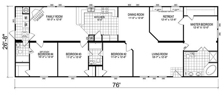 Double Wide Floor Plans Nc: 5 Bedroom Mobile Home Images/tours