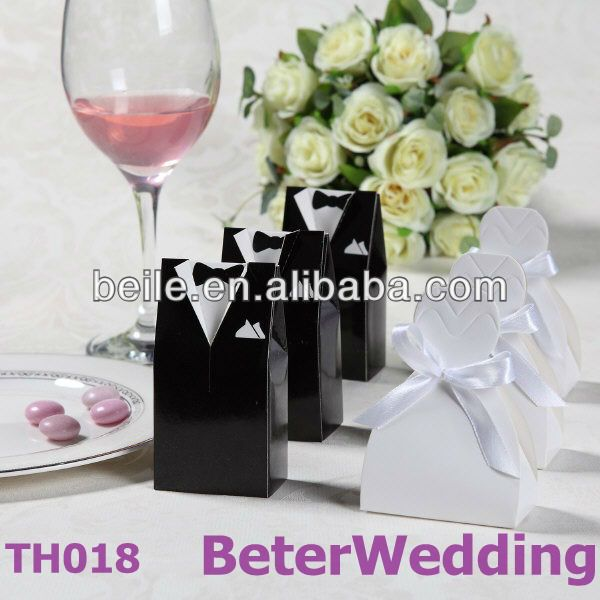 Bride and Groom Favor Boxes TH018-00(120pcs, 60pair)use as Wedding Gift and Wedding Souvenir wholesale on AliExpress.com. 5% off $24.70