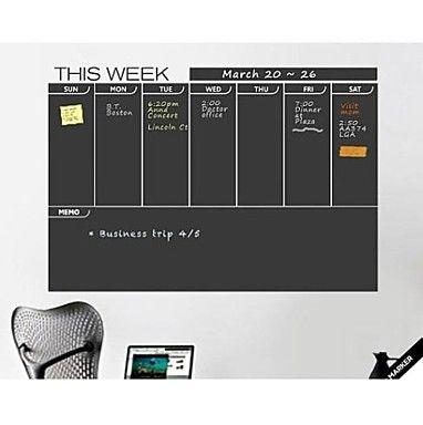 USD $ 31.99 - JiuBai™ Week Plan Blackboard Wall Sticker Wall Decal, Free Shipping On All Gadgets!