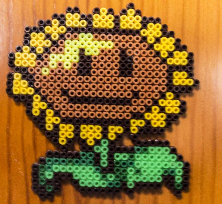 girasol, hamma beads plants vs zombies, plantas contra zombies
