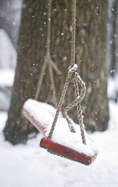snowy swing