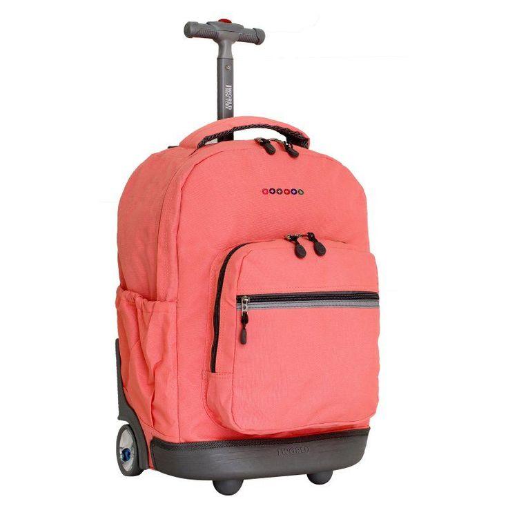J World Sunrise 18 in. Rolling Backpack Blush - RBS-18 BLUSH
