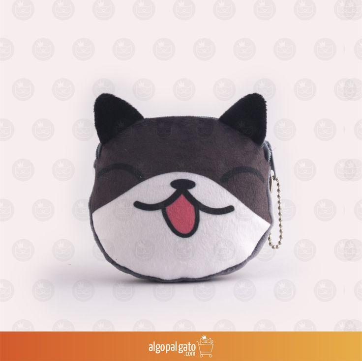Nombre: Monedero Gato animé Talla: Pequeño Color: Gris