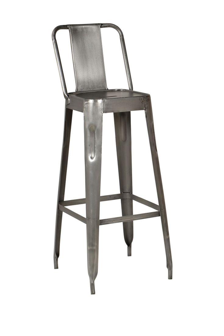 Raw Metal Modern Industrial Bar Stool