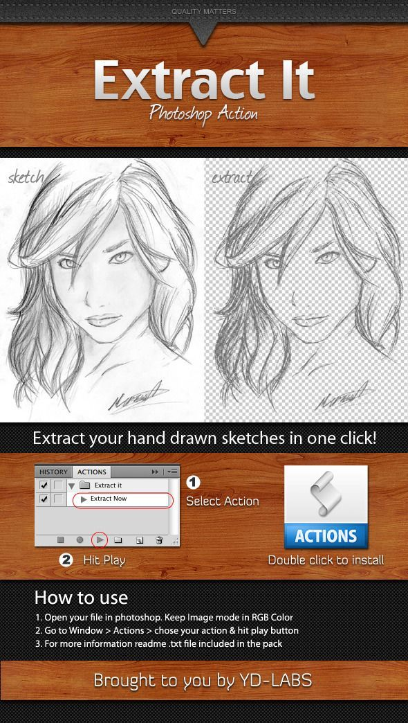 Extract It Photoshop Action | Online Photo Effects