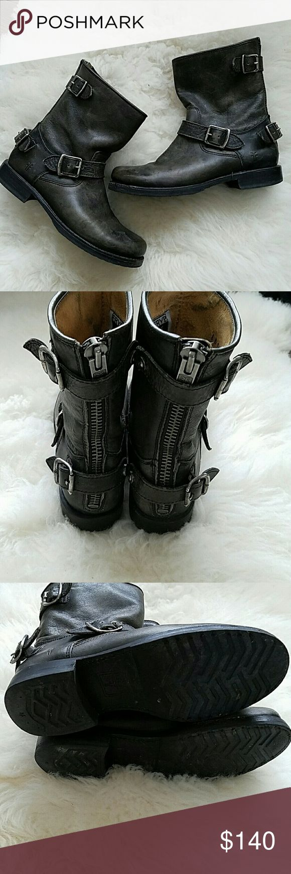 FRYE VERONICA SHORT  BOOTS Good used condition.  Just couple tiny scratch on toes. Frye  Shoes Ankle Boots & Booties