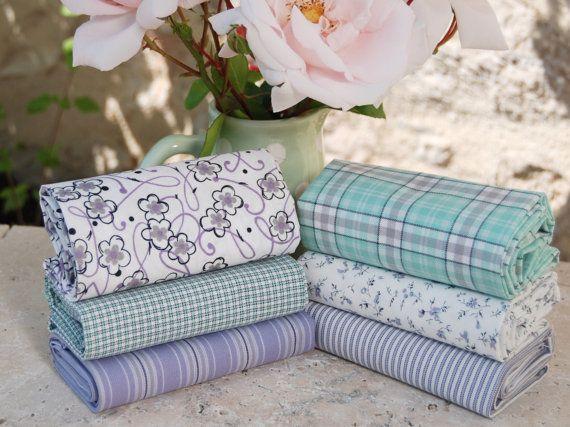 Provence 2 fat quarter fabric bundle 100 by fabricsandfrills
