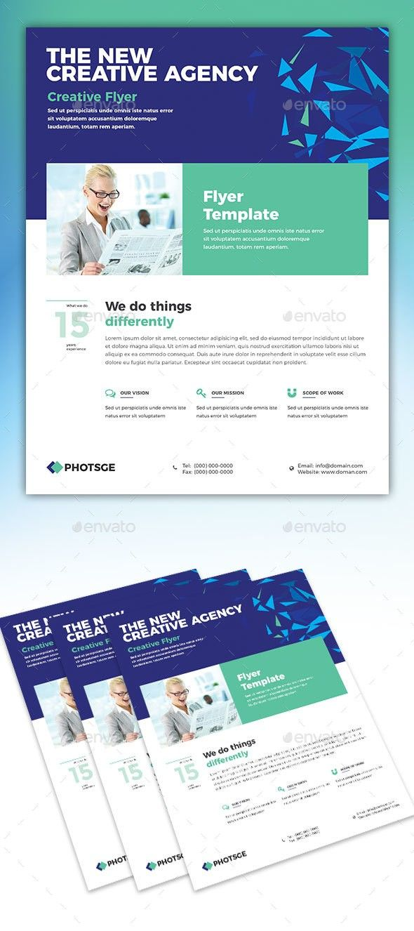 agency bundle business clean company corporate corporate flyer