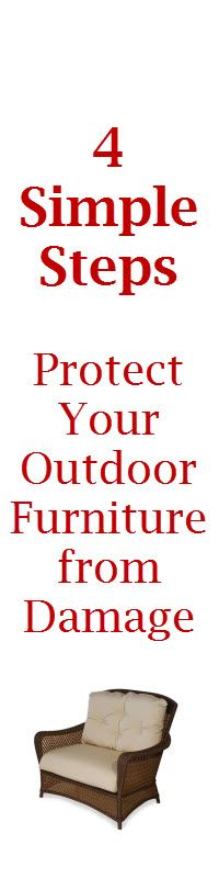 How To Protect Your Patio Furniture So It Looks Great Next Summer! Great  Tip From