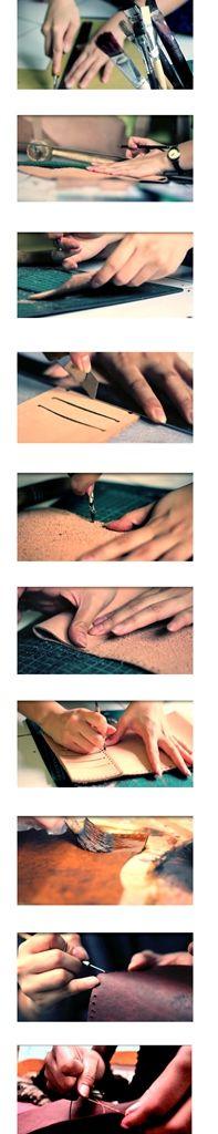 Kaula leather workshop process