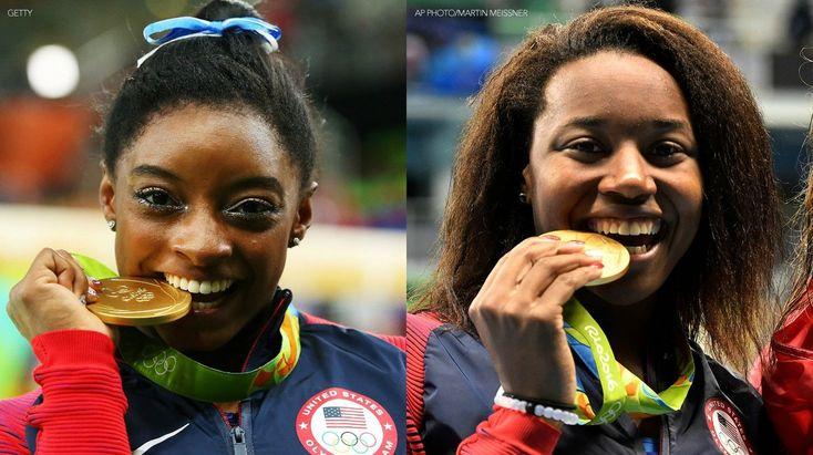 2016 gold medal winners! Simone and Simone