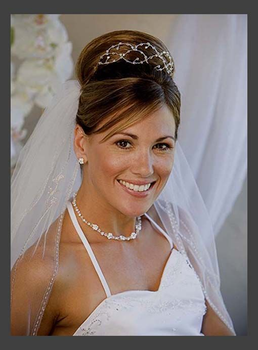 Hairstyles Wedding Updos With Veil Simple Style Of For Medium Length