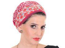 Rot Kopftuch mit Blumenband