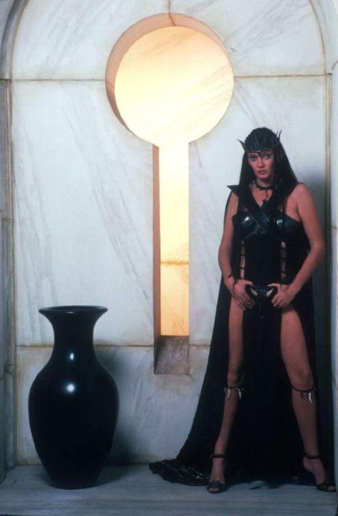 Sarah Douglas as Queen Taramis, Conan the Destroyer (1984) Source:geekwarrior77 via theactioneer and Mudwerks