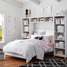 girls beds girls bedroom sets girls headboards pbteen bedroom bookcaseteen bedroom furnituregirls - Teen Girl Room Furniture