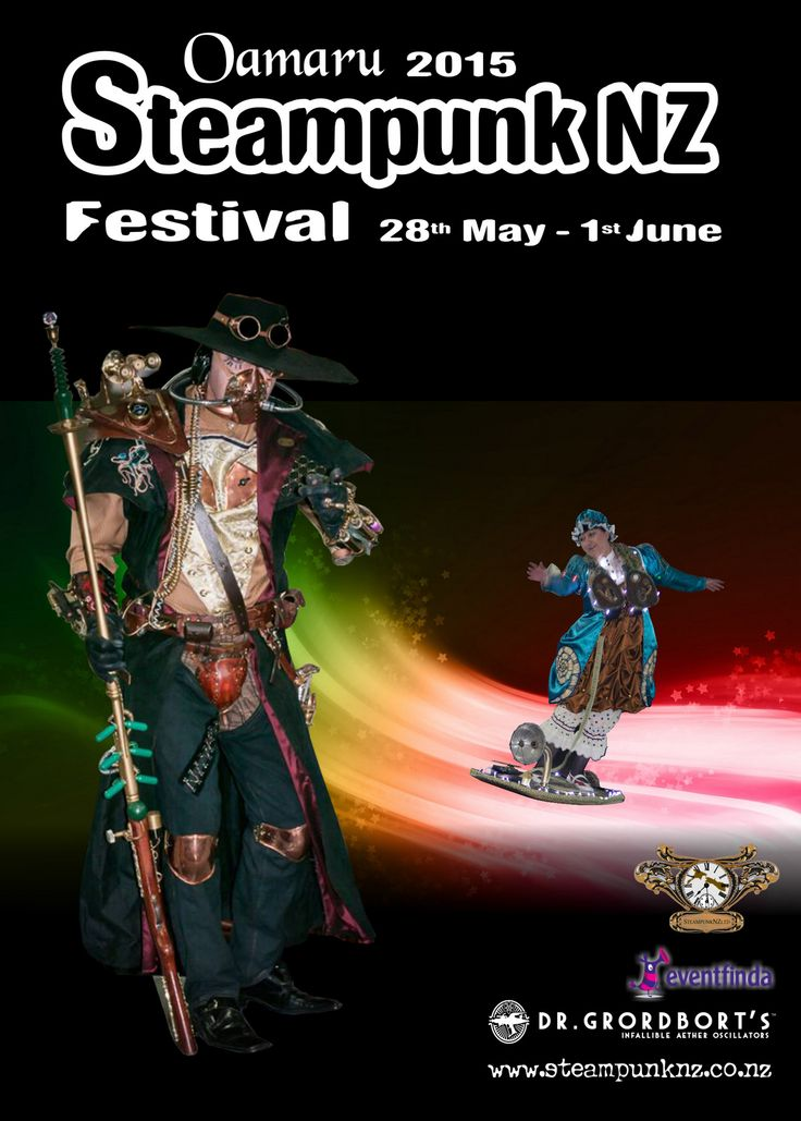New Zealand's most prestigious Steampunk event. Held over NZ Queens Birthday weekend 28th May  -1 June this year.