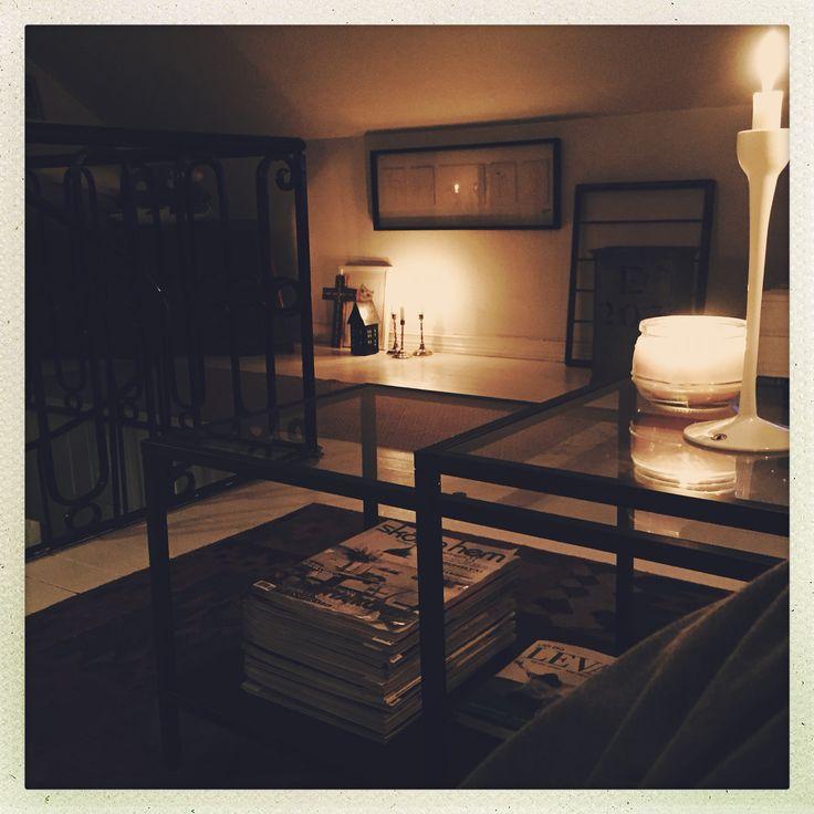 Kvällsmys. Soffbordet Vittsjö blev riktigt bra här!