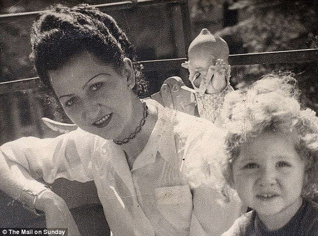 Ancestors: Teege's mother Monika is pictured right in the 1940s with her own mother Ruth Irene Kalder, who had an affair with Goeth while working as a secretary in his factory