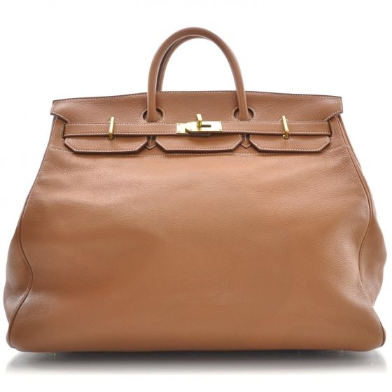 This one's HUGE!  HERMES Ardennes HAC Travel Birkin 45.