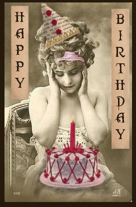Happy Birthday Vintage Altered Digital Image by CLBcreations, $2.00